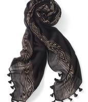 Westwood Tassel Scarf black/rose