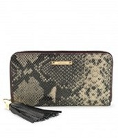 Mercer Zip Wallet -black snake