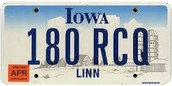 state plate.