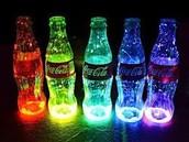 Luminous bottles