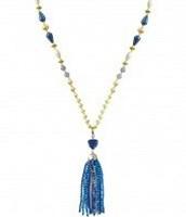 Azure Tassel Necklace, $69