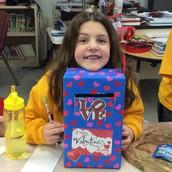 Prettiest Valentine's Mailbox - Lauren S.
