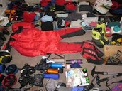 Packing list to go to Mt. Everest.