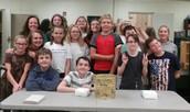 1st Winners of the Golden Trashcan Award- 7th period Ms. Hrubik's class.