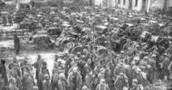 Prisioneros rusos. Batalla de Tannenberg. 1914