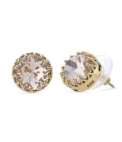 Nancy Studs- PEACH with gold