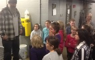 Todd Explains to the Students about the 'Mixed Liquor'