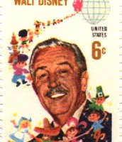 Walt Disney on a stamp.