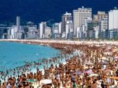 Population, Popular beaches