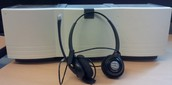 Plantronics Headphones (USB) and CD Holder