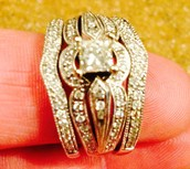 Antique setting diamond wedding band for sale