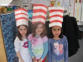 "Our designer ""Cat in the Hat"" hats!"