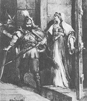 Встреча князя с будущей женой - княгиней Анной