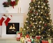 A cozy Christmas home