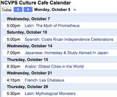 Culture Café Extra Credit Information