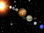 this is a picture  of our solar system not including pluto.