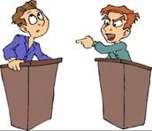 2 men debating