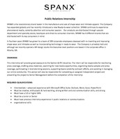 Public Relations Internship