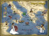 Map of Odysseus' Trip