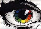 2. Color:    a hue of reflected light, found on the  Color Wheel