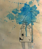 Girl with Umbrella (3/5)