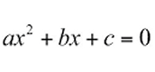 Standard form equation