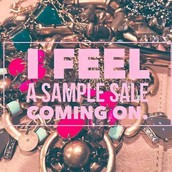 The sample sale will begin tomorrow!