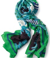 Union Square Scarf - Spring Green Mixed print $27
