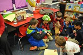 CWES - Students engineering a neighborhood after reading Roberto, the Insect Architect