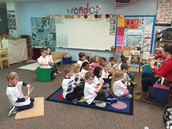 Playing string instruments in Music class by using our Imagination
