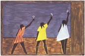 One of Jacob Lawrence's paintings of the Great Migration