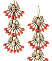 Coral Cay Earrings. SOLD