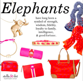Lots & lots of elephants & gifts with meaning!