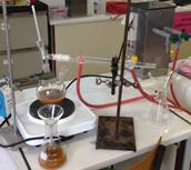 Destillatie materiaal