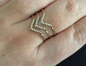 Pave Chevron Ring