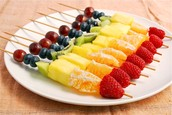 Rainbow Fruit Skewers. MMMM!!!