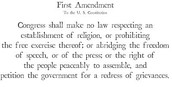 What is Amendment 1?