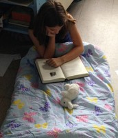 Hannah Snuggled Up to Read