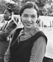 Black and White portrait of Rosa Parks