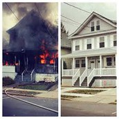 Before and After picture of fire