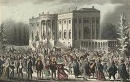 Andrew Jackson's inauguration at the white house