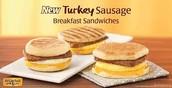 Turky sausage sandwitch