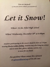 See you at our  Winter Concert on Dec. 10th!