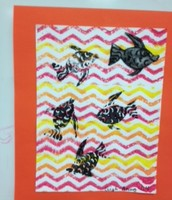 Fish Monoprint by Leigh-Annas, 4th grade
