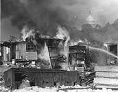 Burning Army Camp