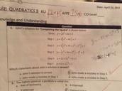 Quadratics Quiz #3