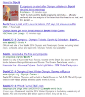 "School Web Search on ""Sochi"""