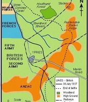 this pic is showing a map of the ypres vs. germans