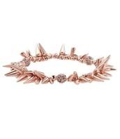 renegade cluster bracelet, rose gold - $30