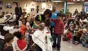 Michelle Obama visiting Latin American Montessori Bilingual Charter School.